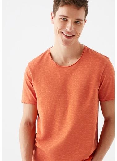 Mavi Turuncu Basic Tişört Oranj